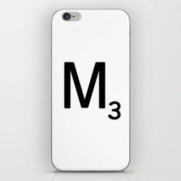 Letter M - Custom Scrabble Letter Tile Art - Scrabble M Initial iPhone Skin
