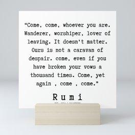 42  | Rumi Quotes  | 190921 Mini Art Print