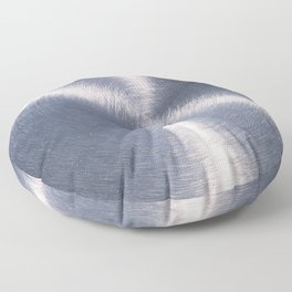 Silver Metallic Stainless Steel Pattern Floor Pillow