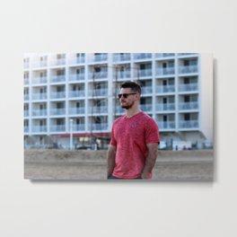 Beach Man Metal Print