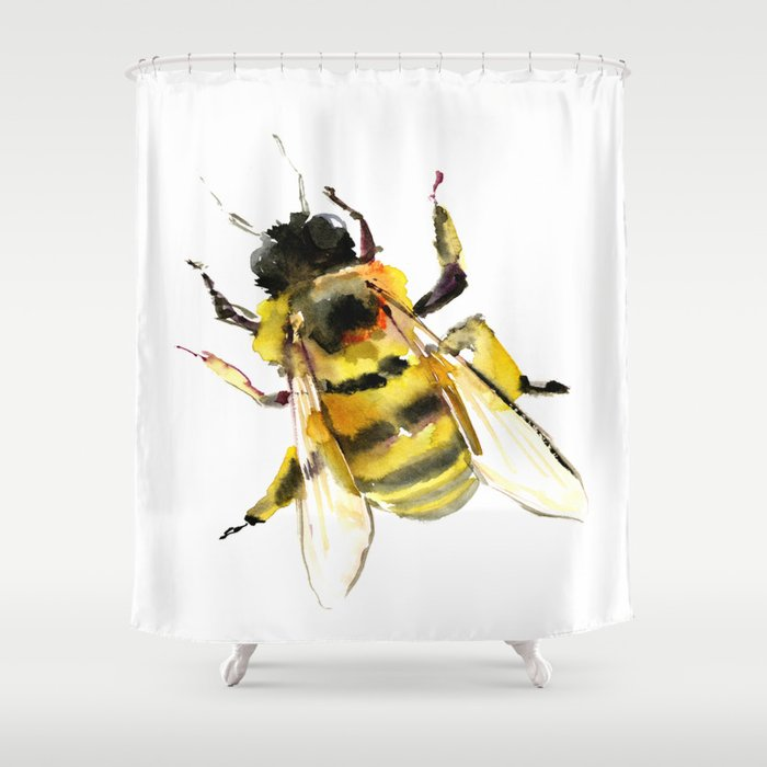 Bee Shower Curtain By Sureart