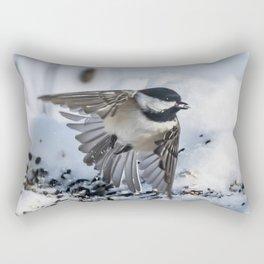 Christmas Chickadee Rectangular Pillow