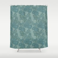 peony Shower Curtains featuring Peony by The Gardener