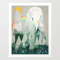 the rainbow critter Art Print