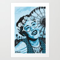 fitzgerald Art Prints featuring Coachella Fitzgerald by EZCO