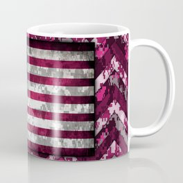 Hot Pink Patriotic Chevrons Digital Camo Coffee Mug