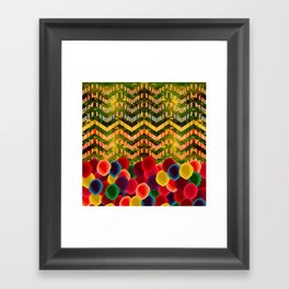Chevron And Dots Framed Art Print
