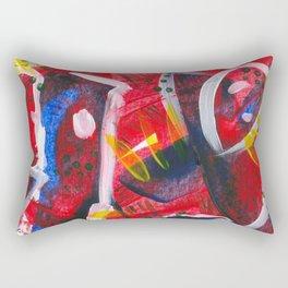 Acrylic Painting - Abstract 3 Rectangular Pillow