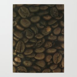 Coffee pattern, fine art photo, Coffeehouse, shops, bar & restaurants, still life, interior design Poster