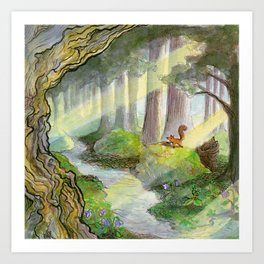 Forest of Ithilien Art Print