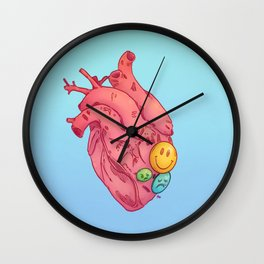 SMILEY HEART Wall Clock