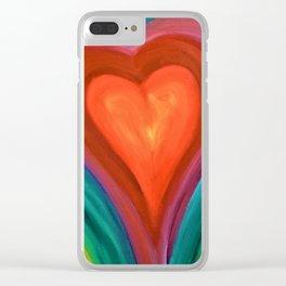 Warm Heart Clear iPhone Case