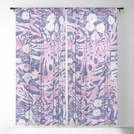 Tropical Daydream Blue Blush Sheer Curtain