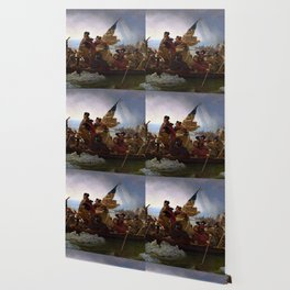 George Washington Crossing Of The Delaware River Painting Wallpaper