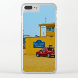 Santa Monica Lifeguards Clear iPhone Case