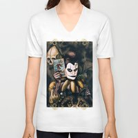 tarot V-neck T-shirts featuring Tarot & Totems by Chad Savage