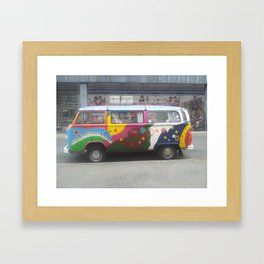 Flowerpower Volkswagen Framed Art Print