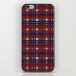 Plaid- Navy Red and Tan iPhone Skin
