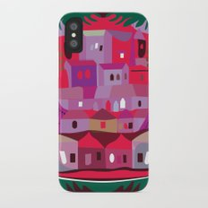 Cow in Downtown Los Angeles iPhone X Slim Case