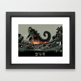 Godzilla - Gray Edition Framed Art Print