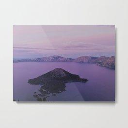 Crater Lake Sunset Metal Print