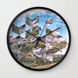 Mountain Fragments Wall Clock