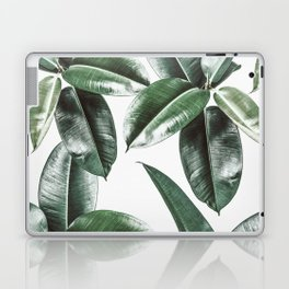 Tropical Leaves Pattern | Dark Green Leaves Photography Laptop & iPad Skin