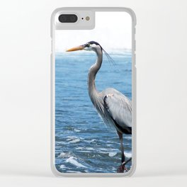 Great Blue Heron on the Pacific Coast in Costa Rica Clear iPhone Case