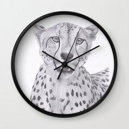 Cheetah Drawing Wall Clock