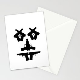 Pistol Face Stationery Cards