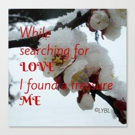 Love Yourself  Merry Christmas Edition Treasure Canvas Print