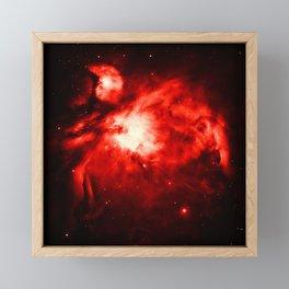 Orion NeBULA : Red Framed Mini Art Print