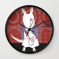argentina Wall Clocks featuring mulita Argentina by María José Noya