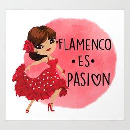 flamenco es pasion Art Print