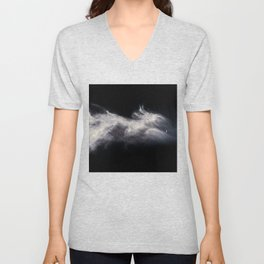 Moon and Clouds Unisex V-Neck