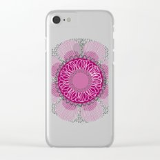 Pinky flower Clear iPhone Case