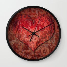 LOVE - Sex and Drugs and Rock 'n' Roll Wall Clock