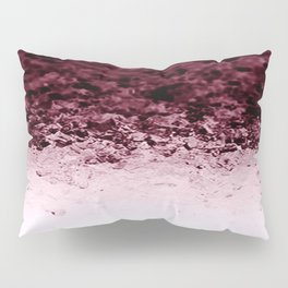 Burgundy CrYSTALS Ombre Gradient Pillow Sham