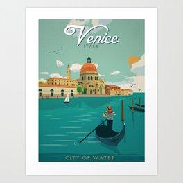 Vintage poster - Venice Art Print