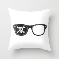 Hipster Pirate Throw Pillow