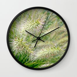 Fuzzy Plant Wall Clock