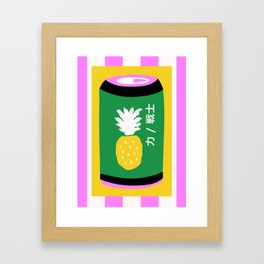 Pineapple Can Framed Art Print