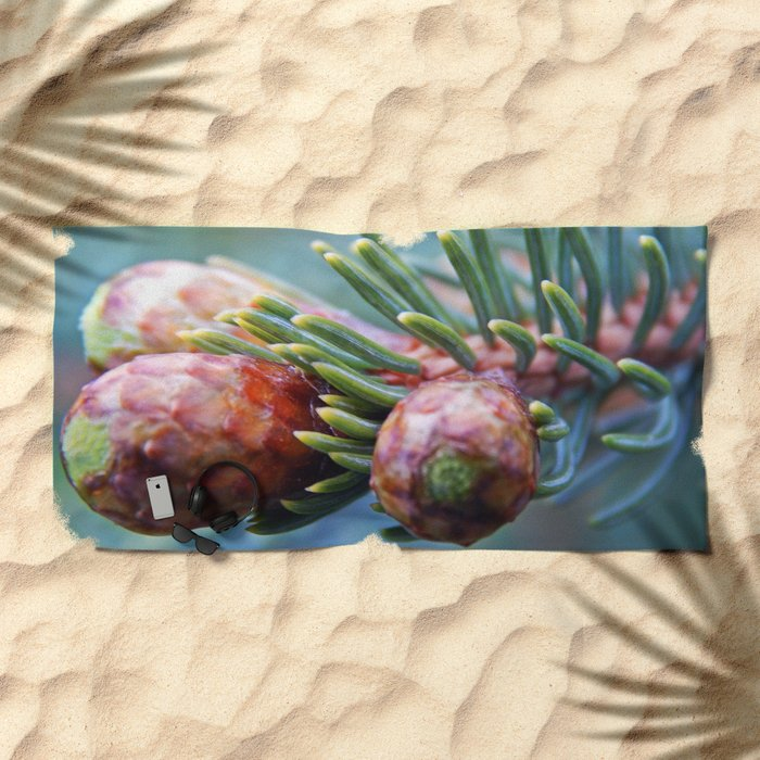 Baby Pine Cones Beach Towel