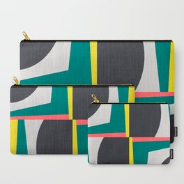 Modern Geometric 65 Green Carry-All Pouch