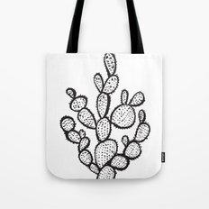 Black Saguaro Cactus Tote Bag