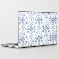 damask Laptop & iPad Skins featuring Damask... by Catherine Ann Lewis