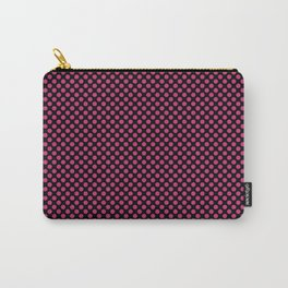 Black and Pink Yarrow Polka Dots Carry-All Pouch