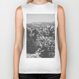 Chollo Cactus Garden (Black + White) Biker Tank