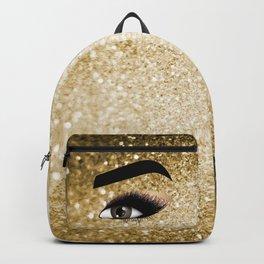 Gold Lashes Eye Backpack