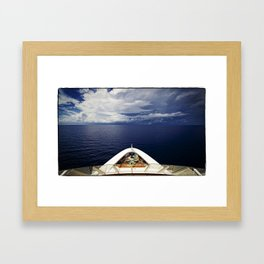 Storms Brewing Framed Art Print